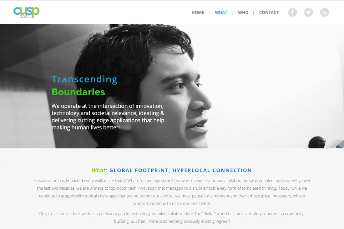 One Page Website Design and Development
